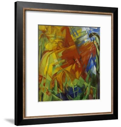 Picture with Bulls-Franz Marc-Framed Giclee Print