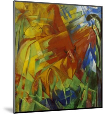 Picture with Bulls-Franz Marc-Mounted Giclee Print