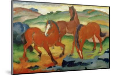 Red Horses-Franz Marc-Mounted Giclee Print