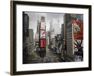 Times Square Rising--Framed Art Print