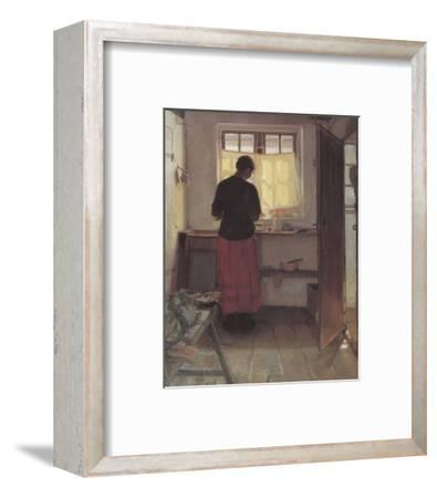 Girl in the Kitchen-Anna Kirstine Ancher-Framed Premium Giclee Print