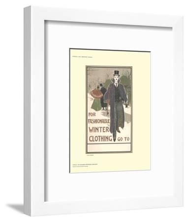 For Fashionable Winter Clothing-Louis J. Rhead-Framed Collectable Print