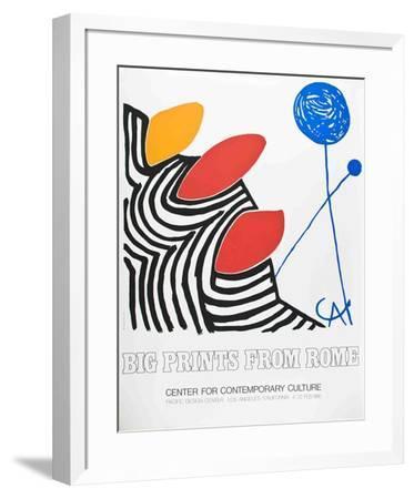 Big Prints from Rome-Alexander Calder-Framed Serigraph