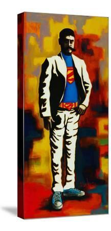 Super-David Silvah-Stretched Canvas Print