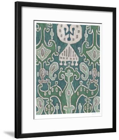 Emerald Ikat I-Chariklia Zarris-Framed Limited Edition