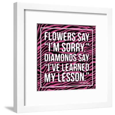 Diamonds-Jace Grey-Framed Art Print