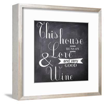 This House Runs-Taylor Greene-Framed Art Print