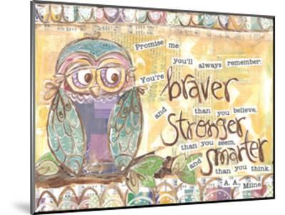 Pastel Owl Family 1 Braver Stronger Smarter-Erin Butson-Mounted Art Print