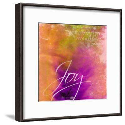 Joy-Jace Grey-Framed Art Print