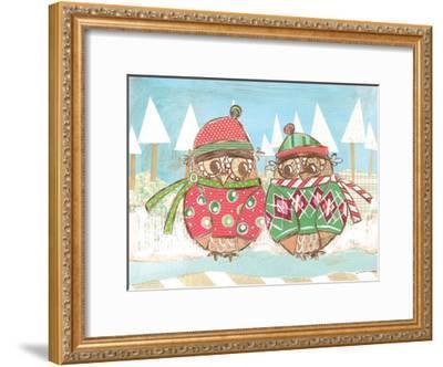 Christmas Owls 3-Erin Butson-Framed Art Print