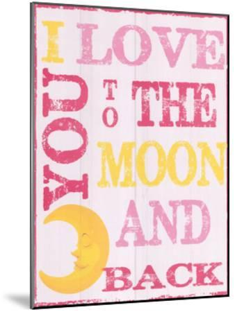 To The Moon and Back Pink-Taylor Greene-Mounted Art Print