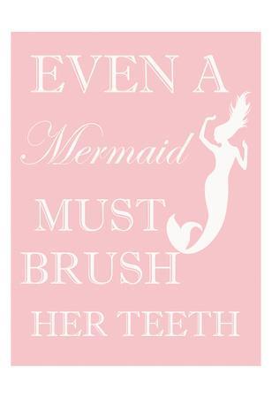Mermaid Must Brush-Taylor Greene-Framed Art Print