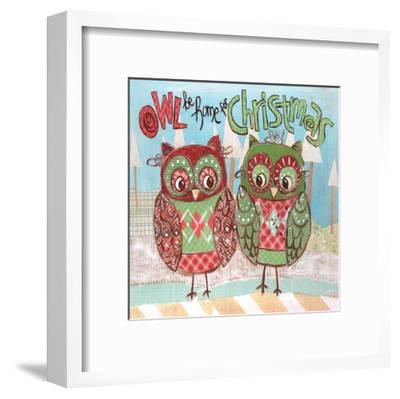 Christmas Owls 2-Erin Butson-Framed Art Print