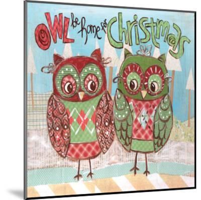 Christmas Owls 2-Erin Butson-Mounted Art Print