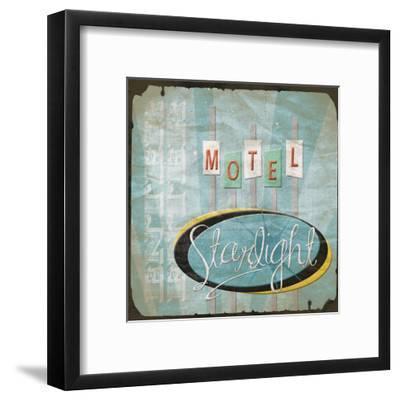 Motel-Jace Grey-Framed Art Print