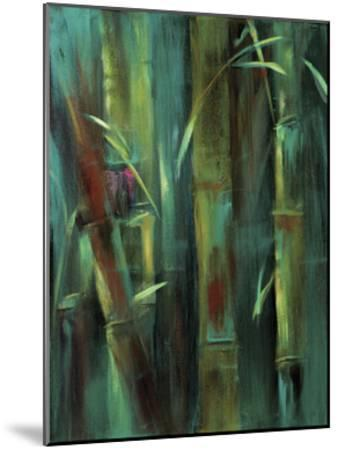 Turquoise Bamboo I-Suzanne Wilkins-Mounted Art Print