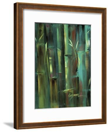 Turquoise Bamboo II-Suzanne Wilkins-Framed Art Print