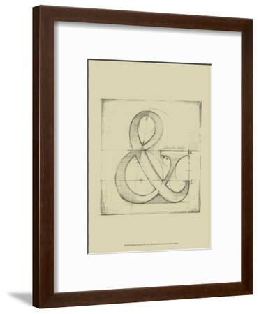 Drafting Symbols II-Ethan Harper-Framed Art Print