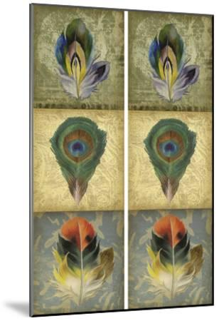 2-Up Feather Triptych II-Jennifer Goldberger-Mounted Art Print
