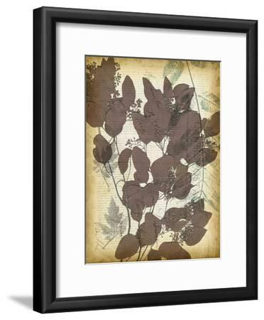 Leaf Letters II-Jennifer Goldberger-Framed Art Print