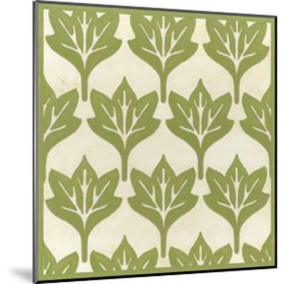Cottage Leaves IV-Erica J^ Vess-Mounted Art Print