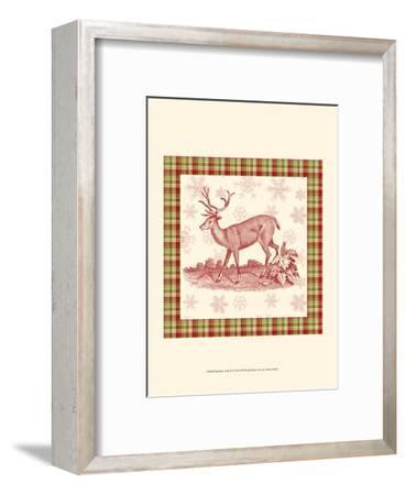 Reindeer Toile II-Vision Studio-Framed Art Print