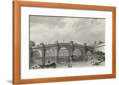 Vue Du Pont Neuf-A^ Pugin-Framed Giclee Print
