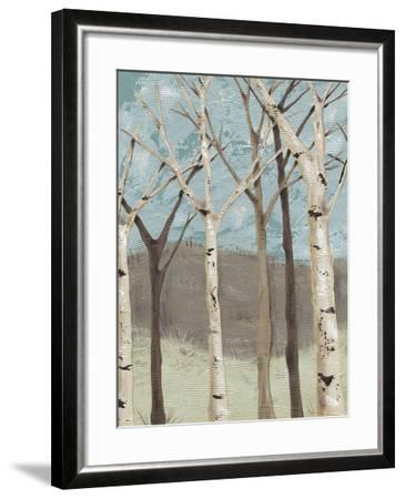Blue Birches I-Jade Reynolds-Framed Giclee Print
