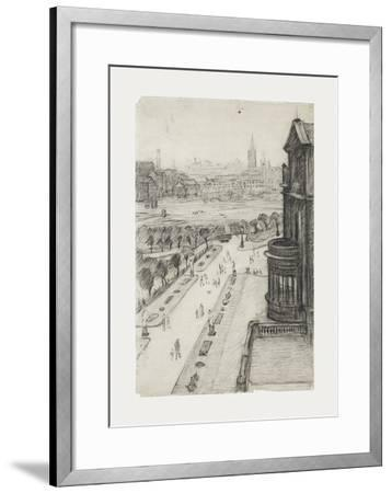 A View From The Window Of The Royal Technical College, Looking Towards Manchester, 1924-Laurence Stephen Lowry-Framed Premium Giclee Print