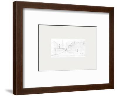 Peel Park Sketch III, 1920-Laurence Stephen Lowry-Framed Premium Giclee Print