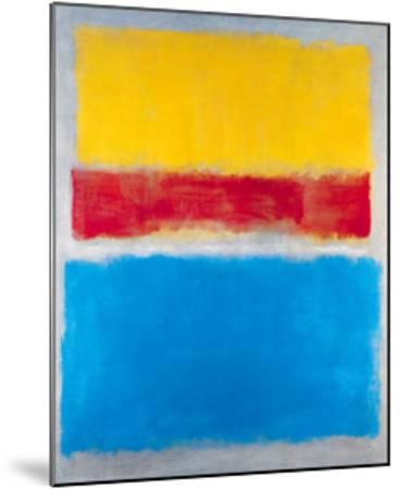 Untitled (Yellow, Red and Blue)-Mark Rothko-Mounted Art Print
