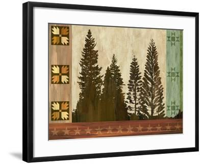 Pine Trees Lodge I-Tania Bello-Framed Art Print