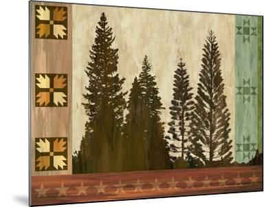 Pine Trees Lodge I-Tania Bello-Mounted Art Print