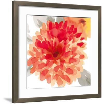 Peach Flower I-Sandra Jacobs-Framed Art Print