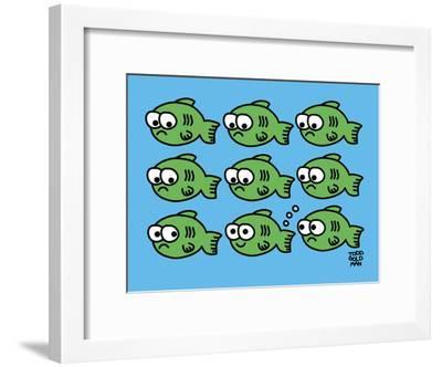 Fish Fart-Todd Goldman-Framed Art Print