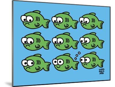 Fish Fart-Todd Goldman-Mounted Art Print