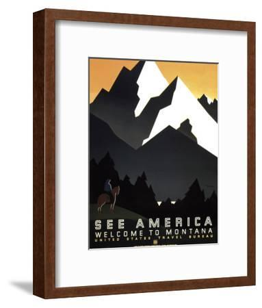 See America - Welcome to Montana II--Framed Giclee Print