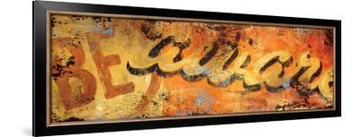 Be-Aware-Rodney White-Framed Giclee Print
