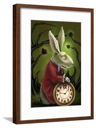 Levin White Rabbit-Diana Levin-Framed Art Print