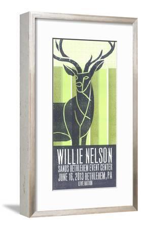 Willie Nelson-Print Mafia-Framed Serigraph