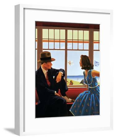 Edith and the Kingpin-Jack Vettriano-Framed Art Print