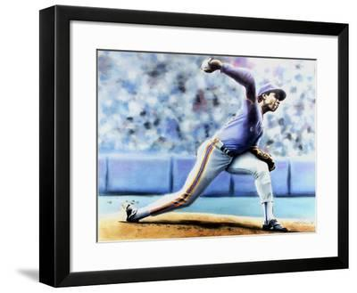 The Delivery (New York Mets Dwight Gooden)-Jack Lane-Framed Collectable Print