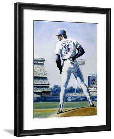 The Sign (New York Mets Dwight Gooden)-Jack Lane-Framed Collectable Print