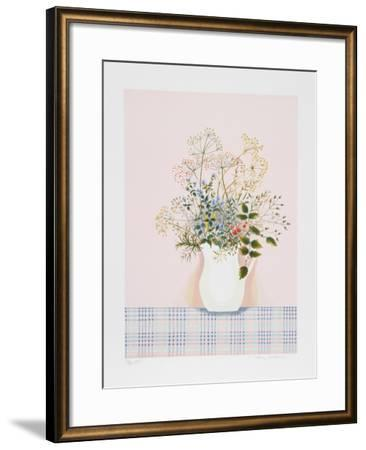 Herbs on Pink Background-Mary Faulconer-Framed Limited Edition