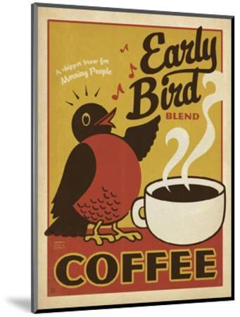 Early Bird Blend Coffee-Anderson Design Group-Mounted Art Print