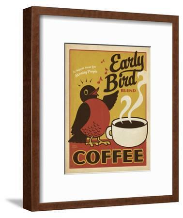 Early Bird Blend Coffee-Anderson Design Group-Framed Art Print