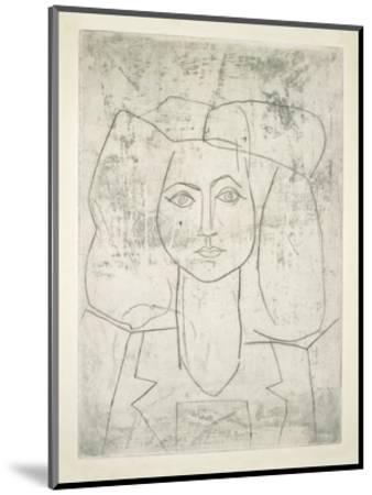 Portrait of Francoise, dressed...-Pablo Picasso-Mounted Art Print