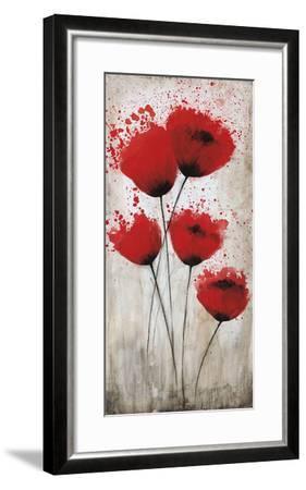Luminous Crimson II-Catherine Brink-Framed Art Print