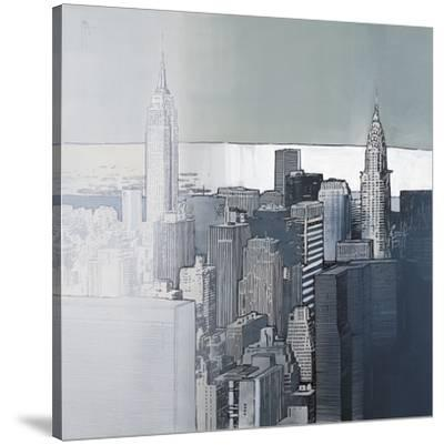 Chrysler and Empire State Buildings-Joan Farré-Stretched Canvas Print