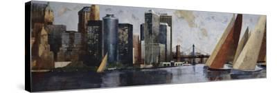 Arriving at Manhattan-Marti Bofarull-Stretched Canvas Print